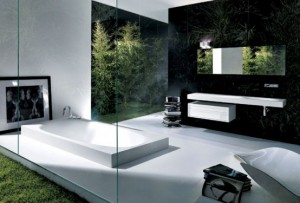 Moderne Badkamers Zwolle : Moderne badkamer. finest moderne badkamer met ligbad en duscholux
