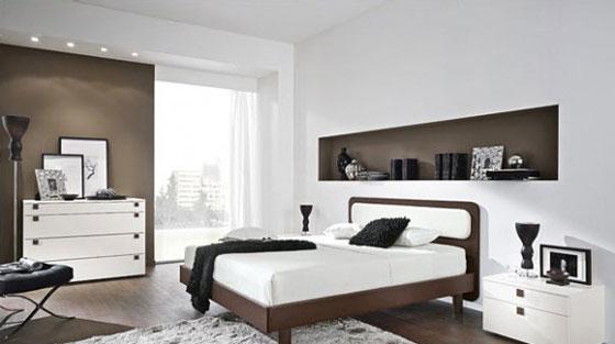 Moderne slaapkamers - Deco kamer bruin ...